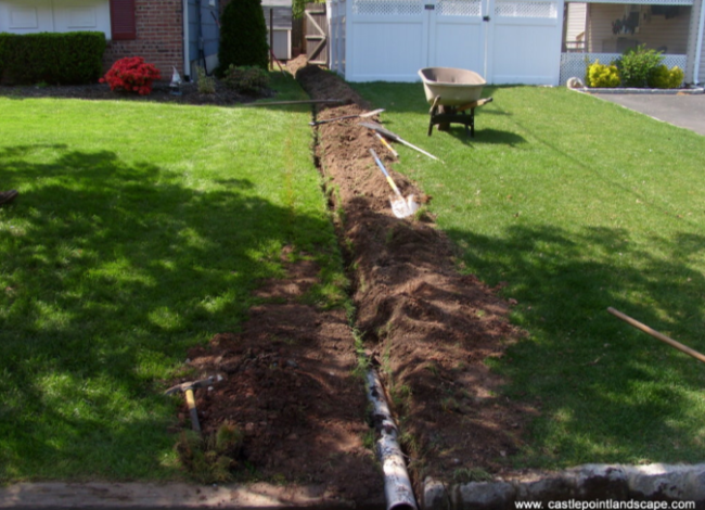 Williamson foundation repair for Fix drainage in yard